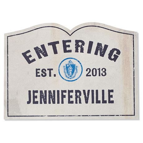 Personalized Entering Your Town Doormat
