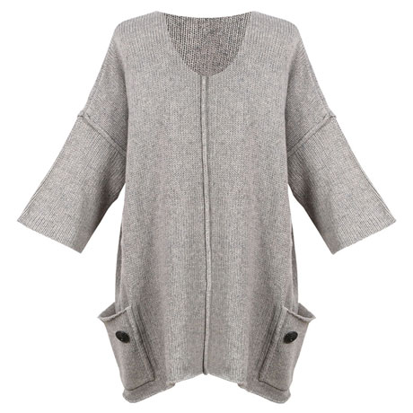 Wool Pocket Tunic Sweater