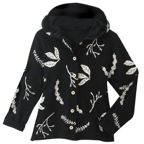 Leaf Print Shirt Jacket