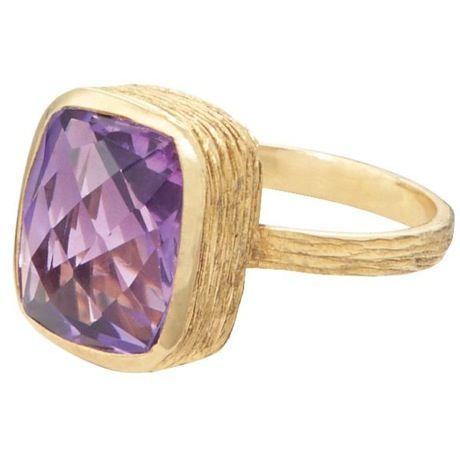 Amethyst Crystal Ring