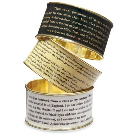 Pride And Predjudice Literary Bangle - Tan