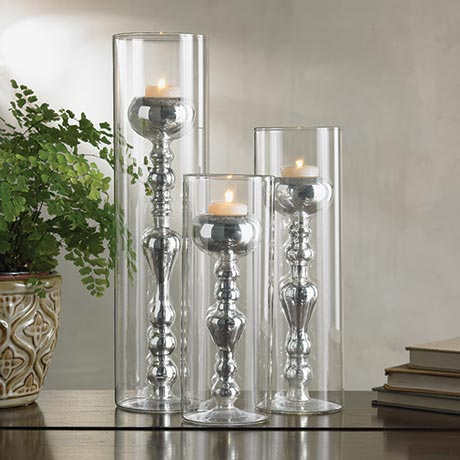 Glass Encased Candlestick