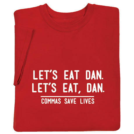 Personalized Commas Save Lives Shirt