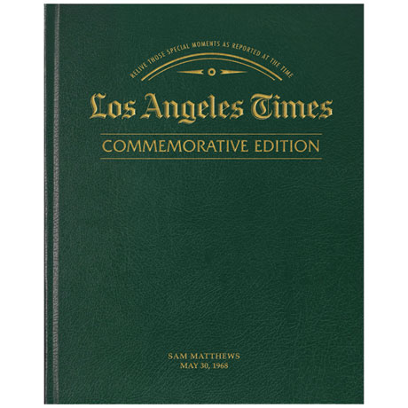 L.A. Times Commemorative Birthday Newspaper