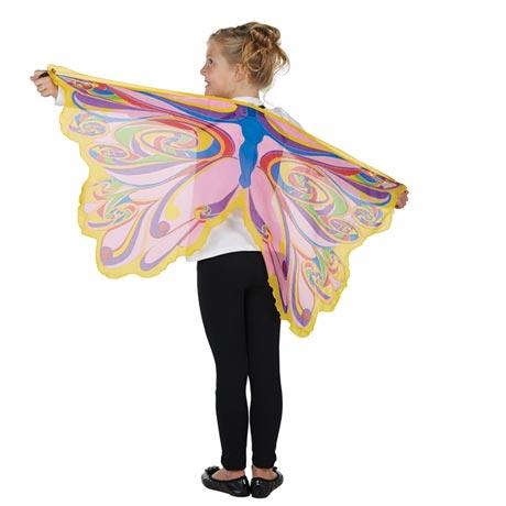 Rainbow Glitter Fairy Wings Slip-On Polyester