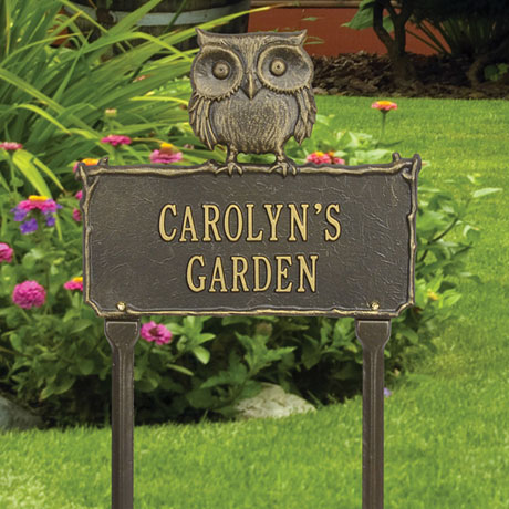 Personalized Owl Lawn Sign