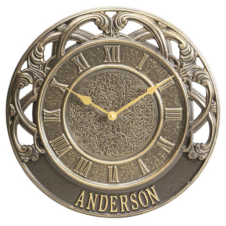 Personalized Chateau Indoor/Outdoor Clock
