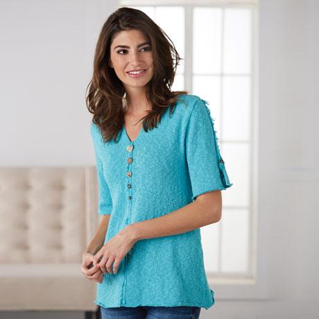 Womens Slub Cotton Sweater
