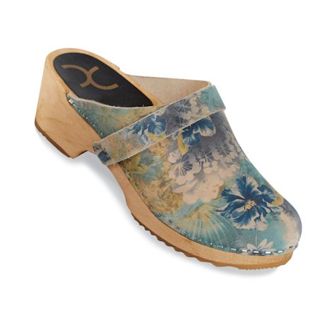 Floral Clogs - Waterlily (blue)