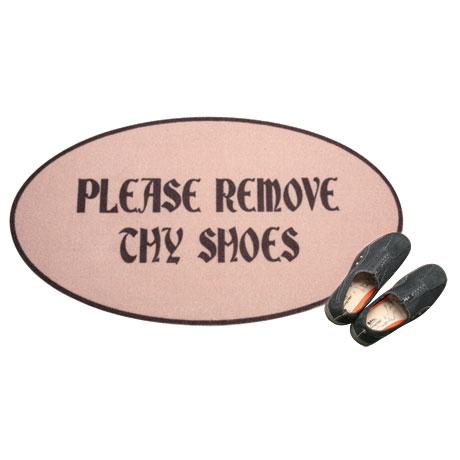 Please Remove Thy Shoes Doormat