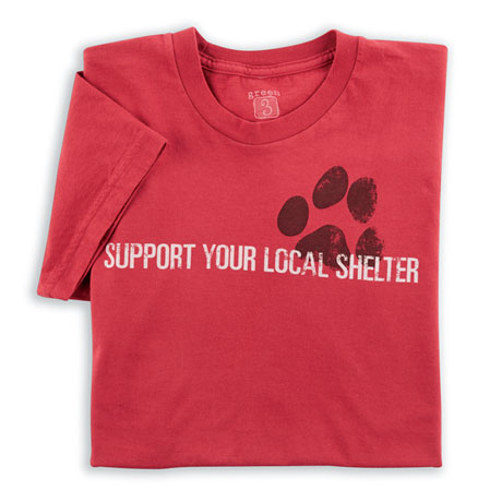 Support Your Local Shelter Tee - Ladies