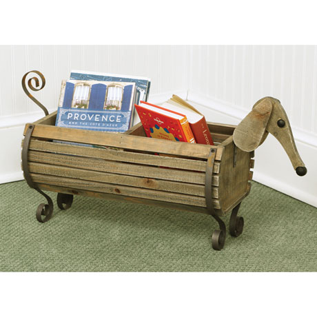 Wooden Dachshund Dog Planter