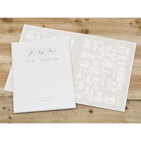Personalized Birth Certificate Folio