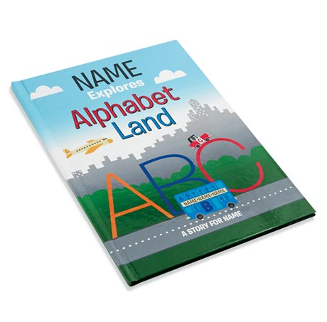 Personalized Alphabet Land Coloring Book