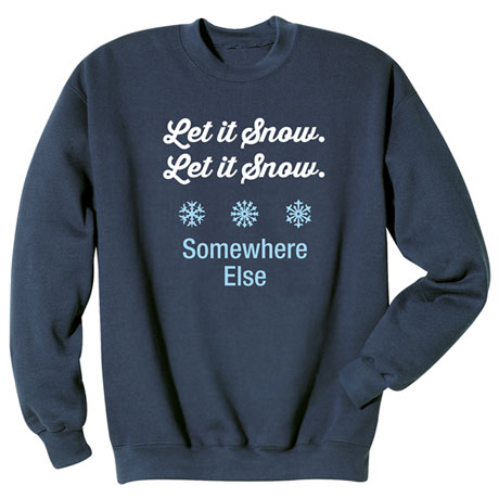 Personalized Let It Snow Shirts