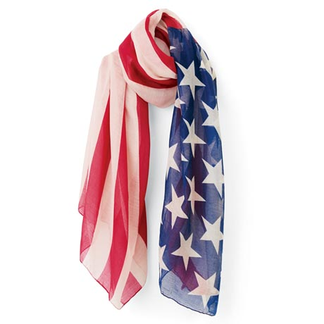 United States Flag Scarf for Women