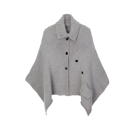 Knitted Lamb's Wool Capelet