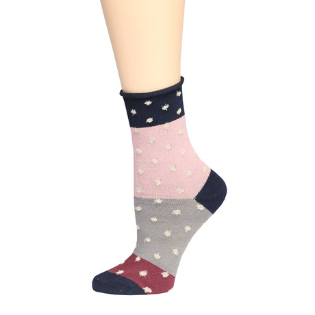 Mismatched Socks - 4 Pairs - with Colorful Polka-Dots