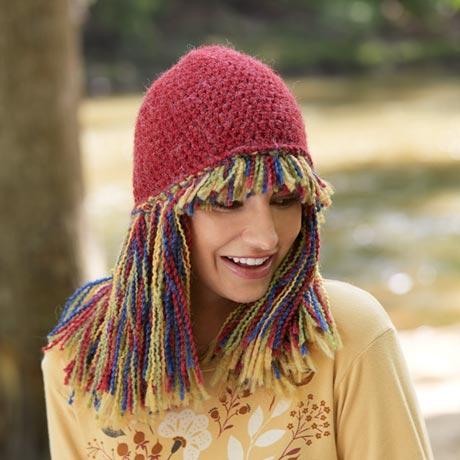 Fringe Knit Hat