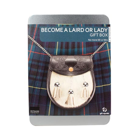 Laird or Lady Gift Box Become a Laird or Lady - Scottish Dunan Castle Benefit
