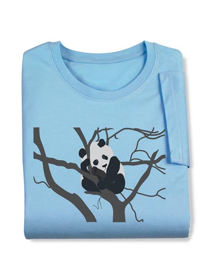 Panda in a Tree Ladies Long-Sleeved Tee