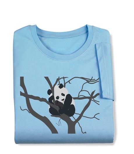 Panda in a Tree Ladies Long-Sleeved Tee