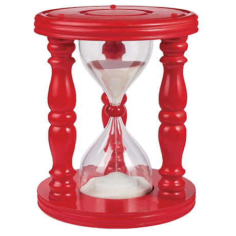 Red Wooden Hourglass Time Out Stool For Children