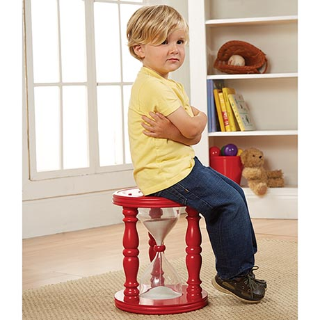 Time Out Toddler Hourglass Stool