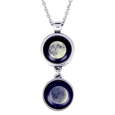 Custom Double Drop Moonglow Necklace