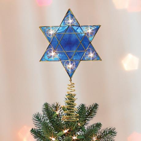 Lighted Hanukkah Tree Topper