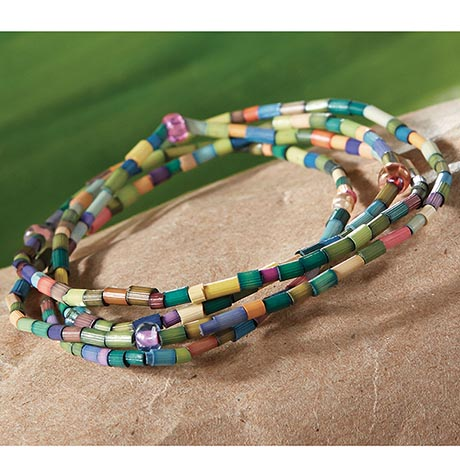 Zulugrass Beads for Learning Wrap Bracelet Supports Education in Kenya