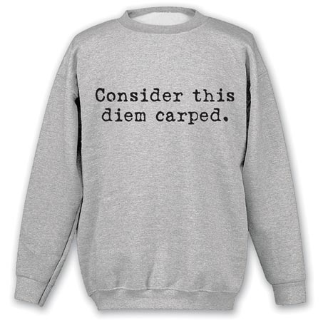 Consider This Diem Carped Sweatshirt