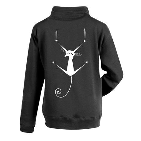 Get A Grip Cat Zip Front Sweatshirt