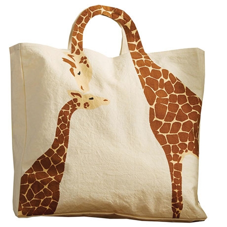 Giraffes Neck Handle Tote Shoulder Bag