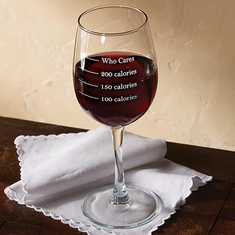 Calorie Measuring Wine Glass- Set of 2
