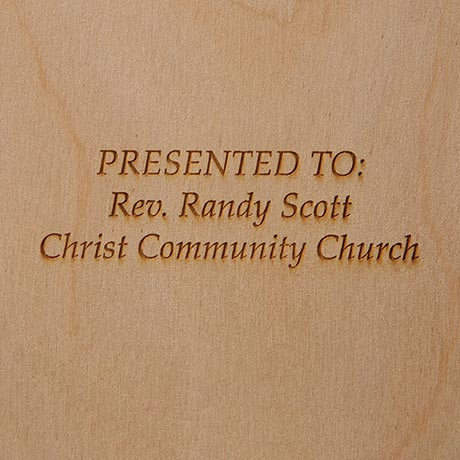 Simple Faith Plaque - Engraved