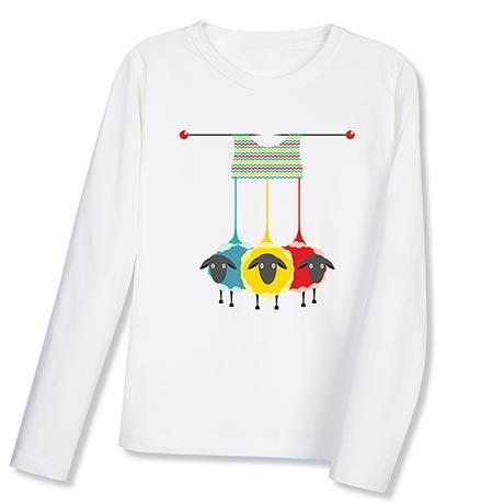 Knitting Sheep Women's Long Sleeve T-Shirt