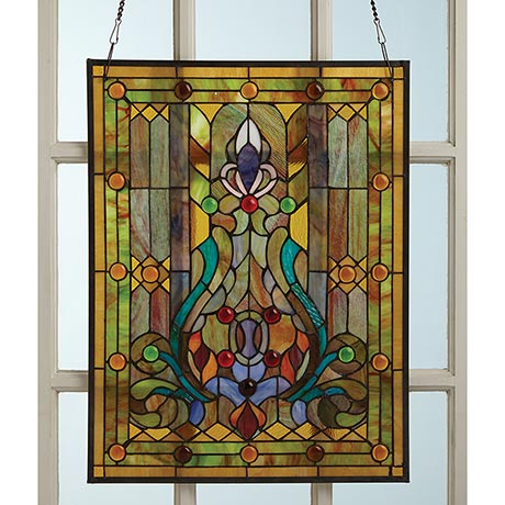 Victorian Style Stained Glass Window Panel