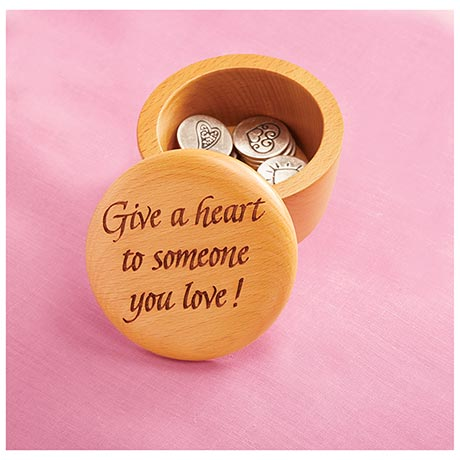 Give a Heart Box With 12 Coins