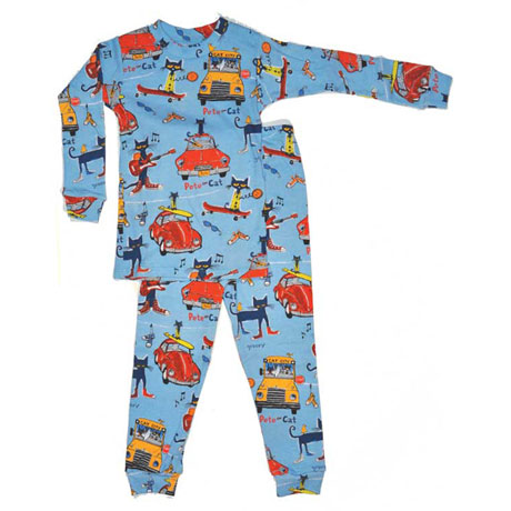 Pete the Cat Kids Pajamas - Blue