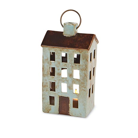 Ceramic House Lanterns - Green