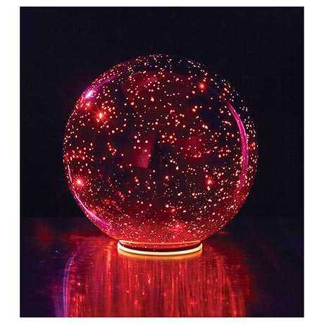 Lighted Red Crystal Ball