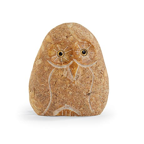 Stone Owls - Brown