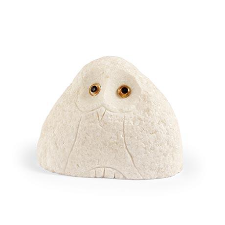 Stone Owls - Medium White