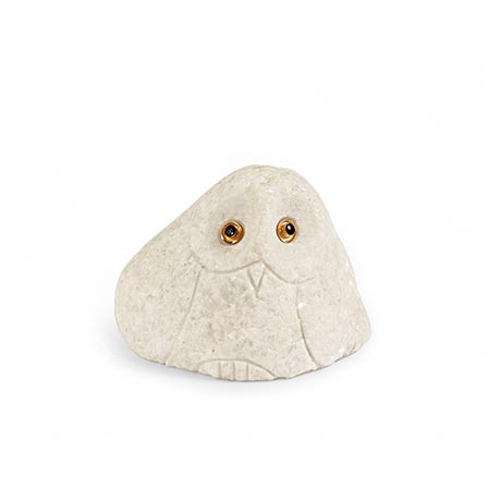Stone Owls - Small White
