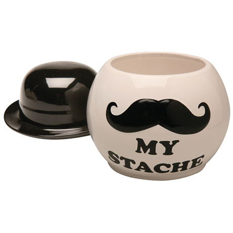 My Stache Ceramic Jar