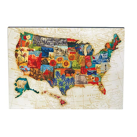 America the Beautiful Wood Wall Art