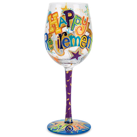 Happy Retirement Wine Glass