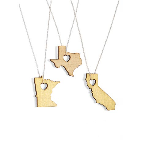 Heartwood State Necklace