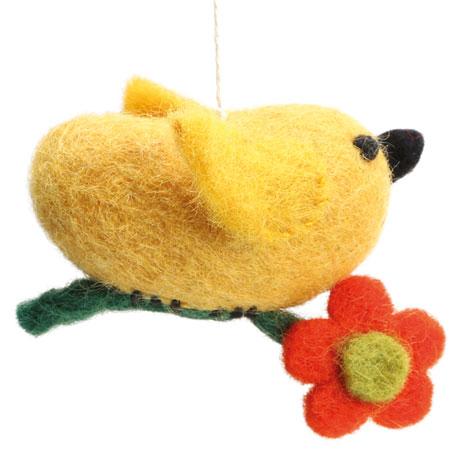 Felted Wool Bird Ornaments